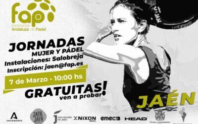 Jaén, sede de las Jornadas Mujer y Pádel del 7 de marzo fruto del convenio entre el Ayuntamiento y la Federación Andaluza